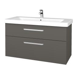 Dřevojas - Koupelnová skříň Q MAX SZZ2 105 - N06 Lava / Úchytka T01 / N06 Lava (331825A)