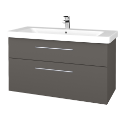Dřevojas - Koupelnová skříň Q MAX SZZ2 105 - N06 Lava / Úchytka T02 / N06 Lava (331825B)