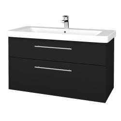 Dřevojas - Koupelnová skříň Q MAX SZZ2 105 - N08 Cosmo / Úchytka T02 / N08 Cosmo (331849B)