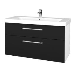 Dřevojas - Koupelnová skříň Q MAX SZZ2 105 - N01 Bílá lesk / Úchytka T03 / N08 Cosmo (332044C)