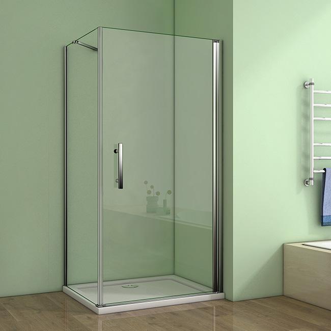 H K Čtvercový sprchový kout MELODY A1 90 cm s jednokřídlými dveřmi včetně sprchové vaničky z litého