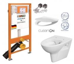 SET JOMO Duofix modul pro závěsné WC + montážní sada + sedátko + WC CERSANIT CLEANON PARVA (174-91100700-00 PA2) - AKCE/SET/JOMO