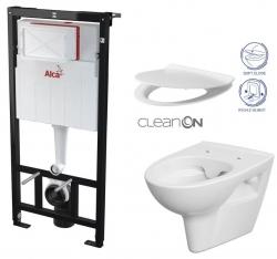 ALCAPLAST  Sádromodul - předstěnový instalační systém bez tlačítka + WC CERSANIT CLEANON PARVA + SEDÁTKO (AM101/1120 X PA2)