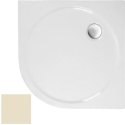 POLYSAN - SONATA sprchová vanička akrylátová, čtvrtkruh 90x90cm, R500, pergamon (57111PERG)