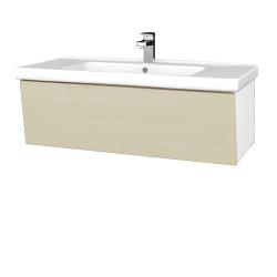 Dřevojas - Koupelnová skříň INVENCE SZZ 100 (umyvadlo Harmonia) - L01 Bílá vysoký lesk / D02 Bříza (180430)