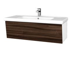 Dřevojas - Koupelnová skříň INVENCE SZZ 100 (umyvadlo Harmonia) - L01 Bílá vysoký lesk / D06 Ořech (180478)