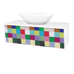 Dřevojas - Koupelnová skříň INVENCE SZZ 100 (umyvadlo Triumph) - L01 Bílá vysoký lesk / IND Individual (184032)