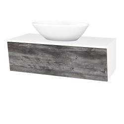 Dřevojas - Koupelnová skříň INVENCE SZZ 100 (umyvadlo Triumph) - L01 Bílá vysoký lesk / D10 Borovice Jackson (183981)