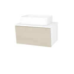 Dřevojas - Koupelnová skříň INVENCE SZZ 65 (umyvadlo Joy) - L01 Bílá vysoký lesk / D02 Bříza (176792)