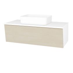 Dřevojas - Koupelnová skříň INVENCE SZZ 100 (umyvadlo Joy) - L01 Bílá vysoký lesk / D02 Bříza (182175)
