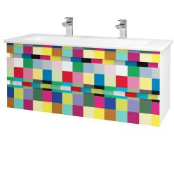 Dřevojas - Koupelnová skříň MAJESTY SZZ2 120 - L01 Bílá vysoký lesk / IND Individual (175665U)