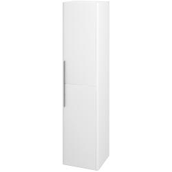 Dřevojas - Skříň vysoká ENZO SVD2 35 - L01 Bílá vysoký lesk / M01 Bílá mat / Levé (188177)
