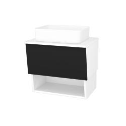 Dřevojas - Koupelnová skříň INVENCE SZZO 65 (umyvadlo Joy) - L01 Bílá vysoký lesk / L03 Antracit vysoký lesk (326272)