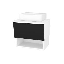 Dřevojas - Koupelnová skříň INVENCE SZZO 65 (umyvadlo Joy 3) - L01 Bílá vysoký lesk / L03 Antracit vysoký lesk (326517)
