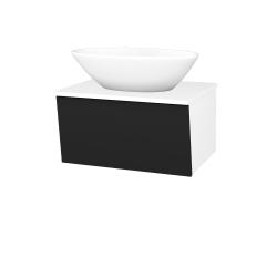 Dřevojas - Koupelnová skříň INVENCE SZZ 65 (umyvadlo Triumph) - L01 Bílá vysoký lesk / L03 Antracit vysoký lesk (327231)