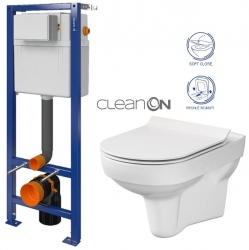 CERSANIT nádržka  AQUA 02 bez tlačítka + WC CERSANIT CITY NEW CLEANON + WC SEDÁTKO SLIM (S97-063 CI2)