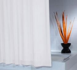 RIDDER - MADISON sprchový závěs 180x200cm, polyester, bílá (45301), fotografie 2/1