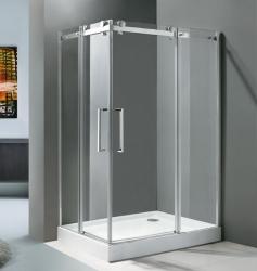 Aquatek - TEKNO R24 Chrom Luxusní sprchová zástěna obdélníková 120x80cm, sklo 8mm (TEKNOR24), fotografie 6/3