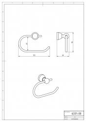 NOVASERVIS - Závěs toaletního papíru Metalia 3 satino (6331,9), fotografie 6/3