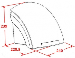 NOVASERVIS - Elektrický senzorový osoušeč rukou, 1500 W, bílý (69091,1), fotografie 4/3