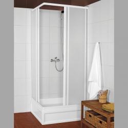 AQUALINE - KNS čtvercová sprchová zástěna 800x800mm, bílý profil, polystyren výplň (KNS-C-80)