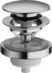 SILFRA - Uzavíratelná kulatá výpust pro umyvadla s přepadem Click Clack, V 5-60mm, chrom (UD85051)