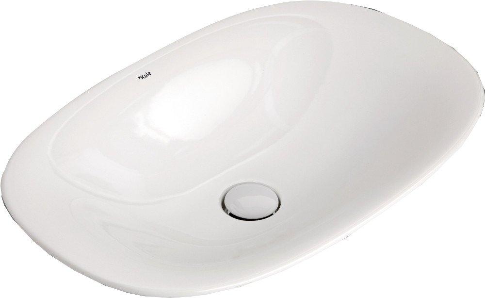 SPIRIT keramické umyvadlo na desku 60x40 cm, keramická zátka, bílá (71136158)