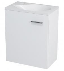 SAPHO - LATUS II umyvadlová skříňka 41,6x50x25cm, bílá+umyvadlo 10052, litý mramor (55580-SET)