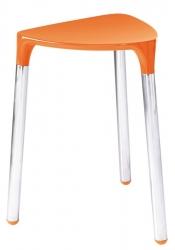 Gedy - YANNIS koupelnová stolička 37x43,5x32,3 cm, oranžová (217267)