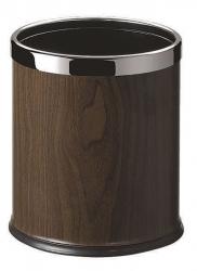 SAPHO - ROOM odpadkový koš, leštěný nerez/ořech (DR186)