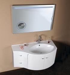 SAPHO - AILA umyvadlová skříňka 110x39cm, bílá/stříbrná, zásuvky vlevo vč.umyvadla ISOBEL 55601 (55621-SET), fotografie 8/8