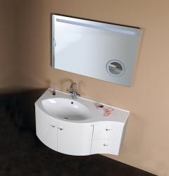 SAPHO - AILA umyvadlová skříňka 110x39cm, bílá/stříbrná, zásuvky vpravo vč.umyvadla ISOBEL 55602 (55622-SET), fotografie 10/8