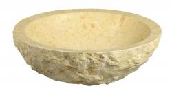 SAPHO - BLOK 13 kamenné umyvadlo 45x15cm, hrubý kámen, světlý (2401-15)