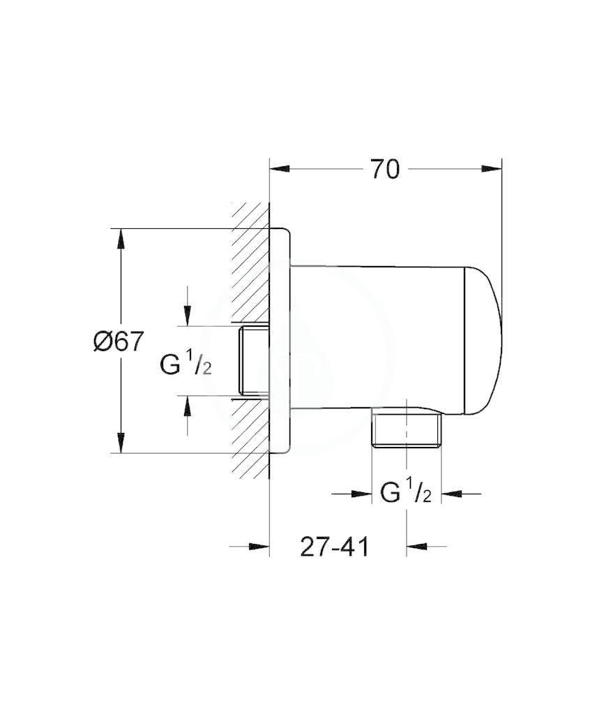 GROHE - Relexa Nástěnné kolínko, chrom (28671000)