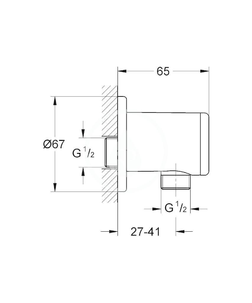 GROHE - Relexa Nástěnné kolínko, chrom (28636000)