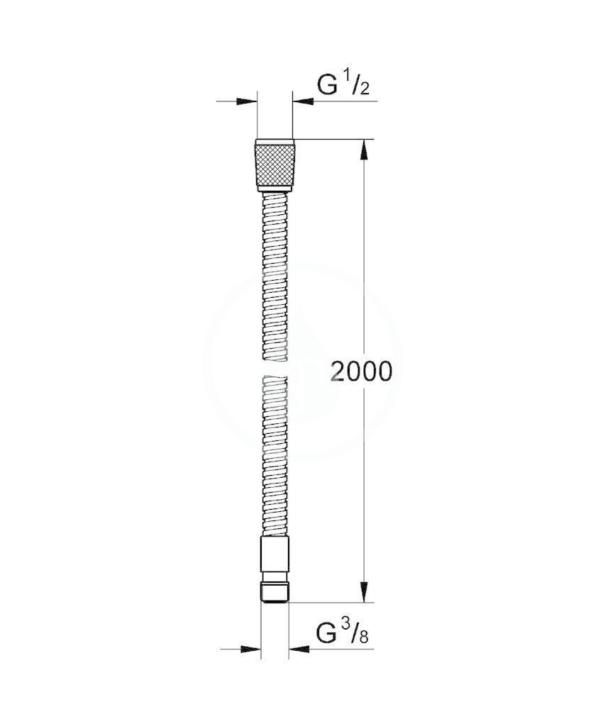 GROHE - Hadice Kovová sprchová hadice (28158000)