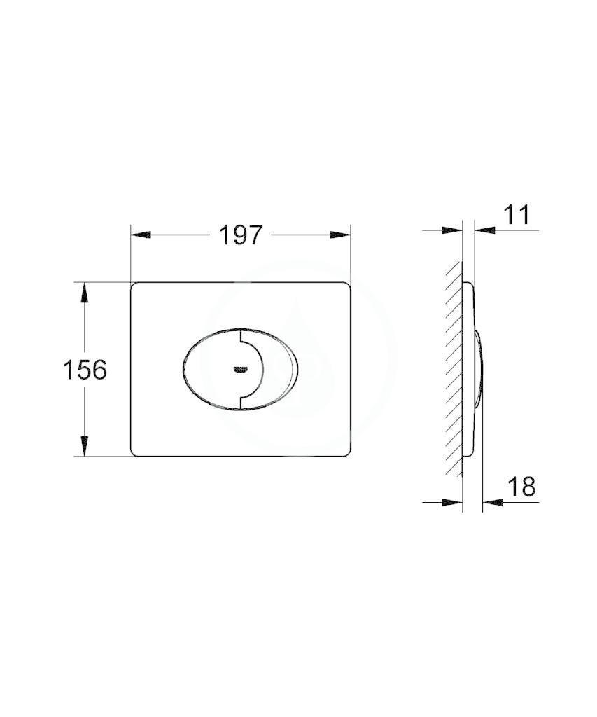 GROHE - Skate Air Ovládací tlačítko, chrom (38506000)