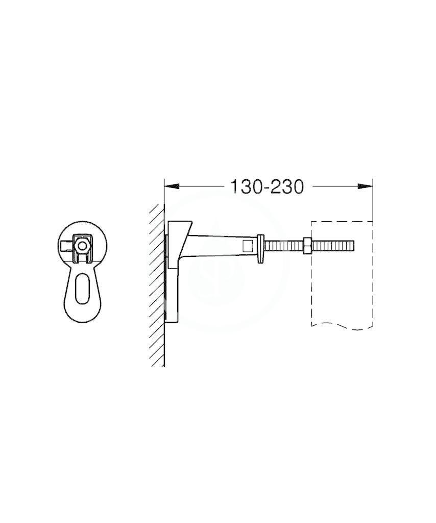 GROHE - Rapid SL Nástěnná přípojka pro předstěnovou montáž (3855800M)