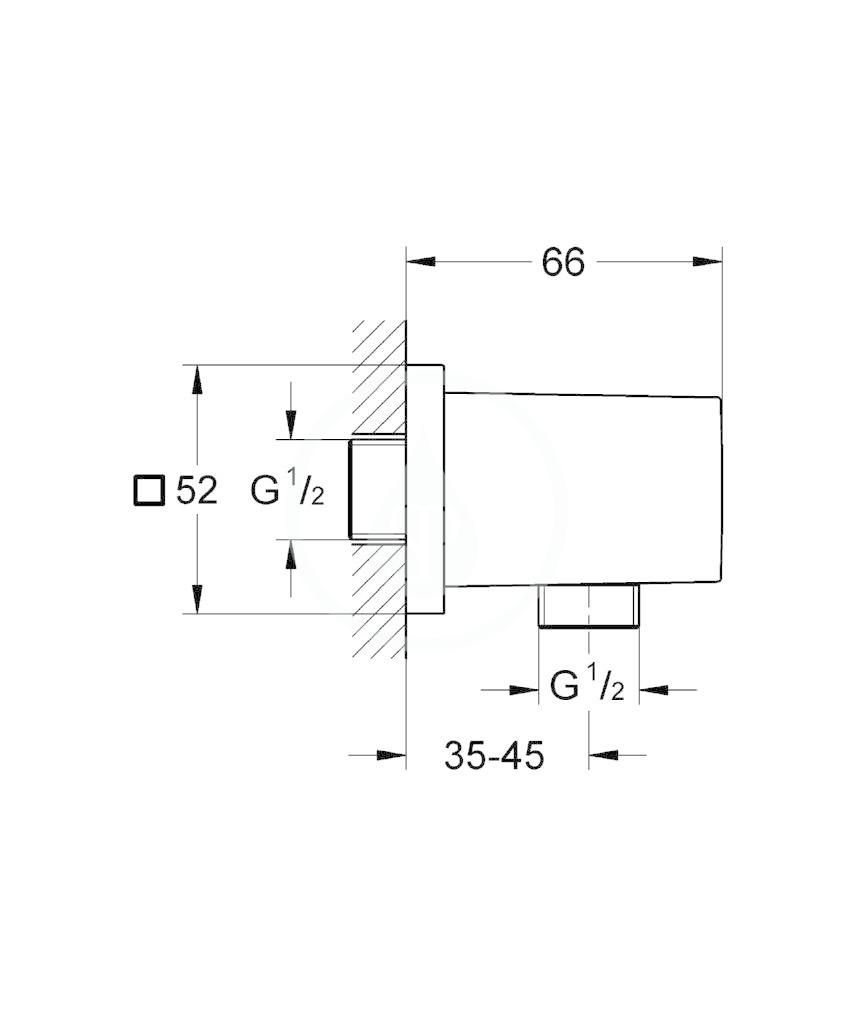 GROHE - Euphoria Cube Nástěnné kolínko, chrom (27704000)
