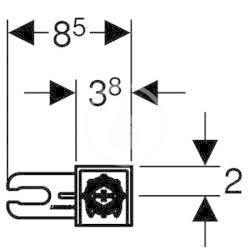 GEBERIT - Duofix Stavební souprava pro předstěnovou montáž (111.815.00.1)