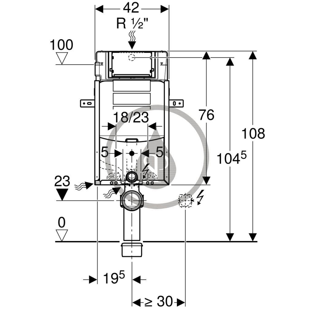 GEBERIT - Kombifix Montážní prvek pro závěsné WC, 108 cm, splachovací nádržka pod omítku Sigma 12 cm (110.300.00.5)