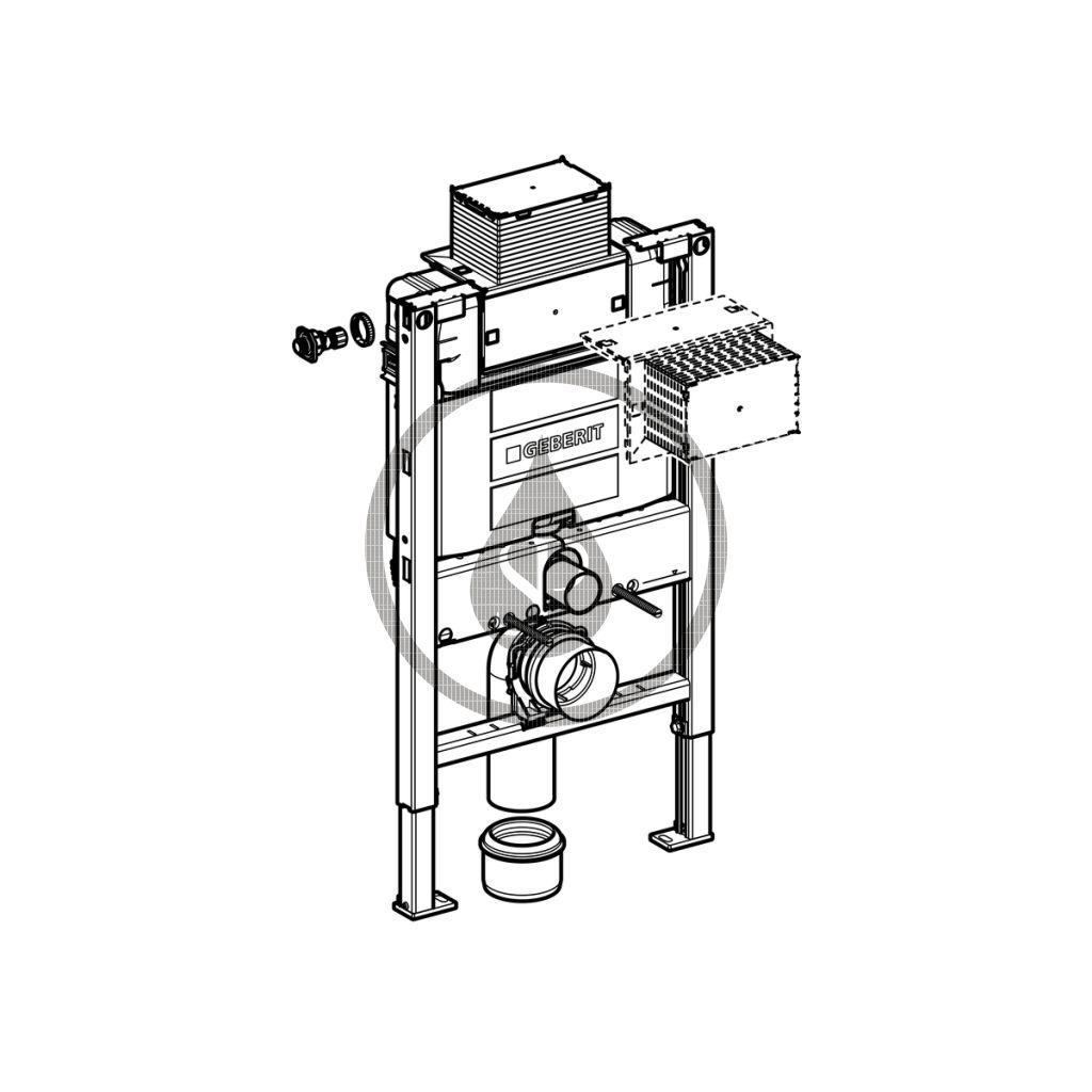 GEBERIT - Duofix Montážní prvek pro závěsné WC, 82 cm, splachovací nádržka pod omítku Omega 12 cm (111.003.00.1)