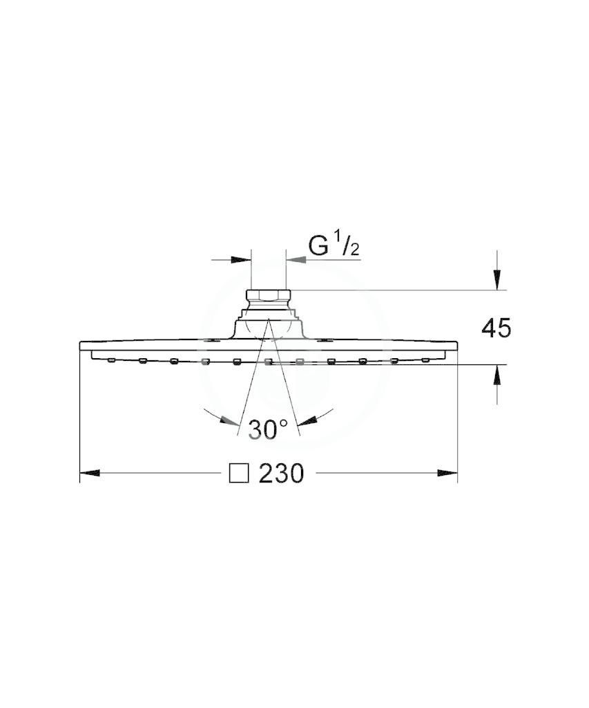 GROHE - Rainshower Hlavová sprcha, 230 x 230 mm, chrom (27479000)