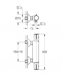 GROHE - Grohtherm 800 Termostatická sprchová baterie, chrom (34558000), fotografie 2/3