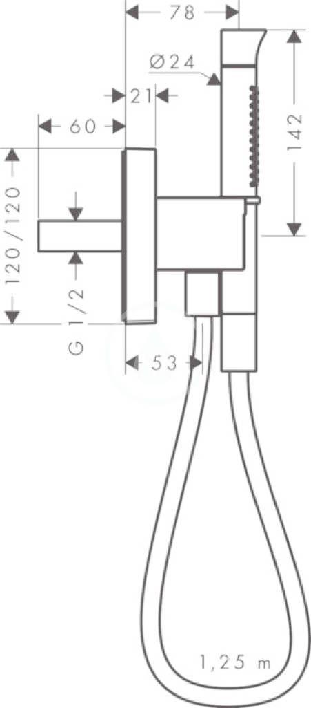 AXOR - Starck Organic Sprchová souprava 2jet s držákem Porter 12 x 12, chrom (12232000)