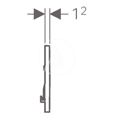 GEBERIT - Sigma30 Ovládací tlačítko Sigma30, splachování Start/Stop, bílá/chrom (115.893.KJ.1)