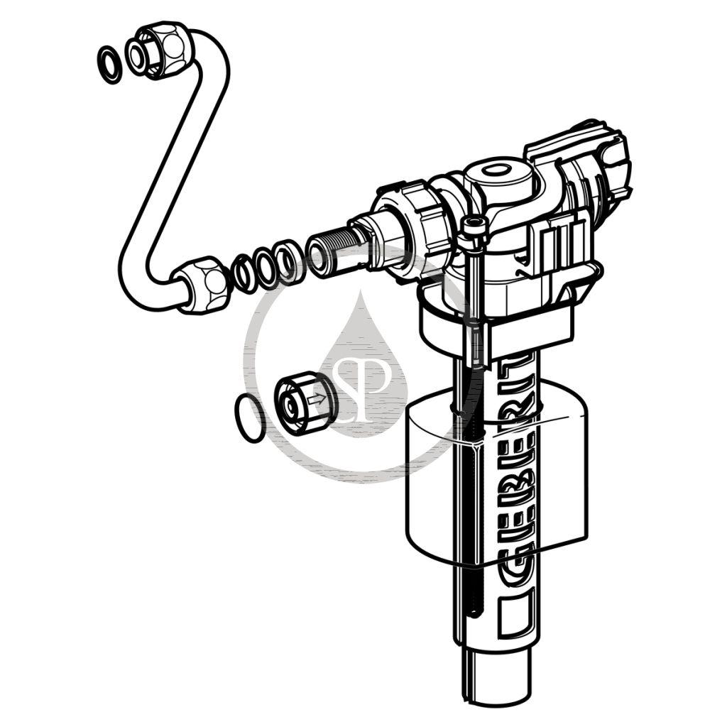 GEBERIT - Příslušenství Napouštěcí ventil pro splachovací nádržky na omítku (240.705.00.1)