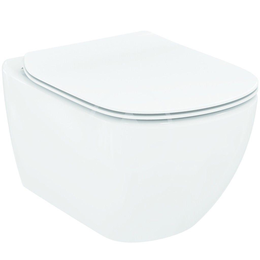 IDEAL STANDARD - Tesi Závěsné WC 360x530x337 mm, s technologií Aquablade, bílá (T007901)