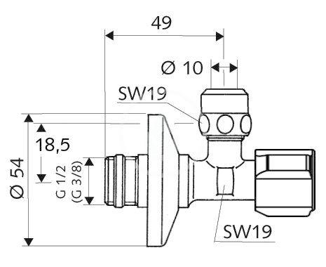 SCHELL - Comfort Rohový regulační ventil s jemným filtrem, chrom (054280699)