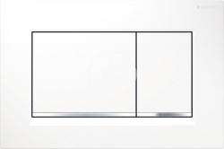 GEBERIT - Sigma30 Ovládací tlačítko Sigma30, bílá/chrom (115.883.KJ.1)
